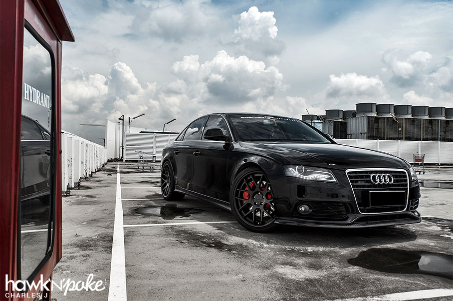 Black Pearl Audi A4 On Bc Forged