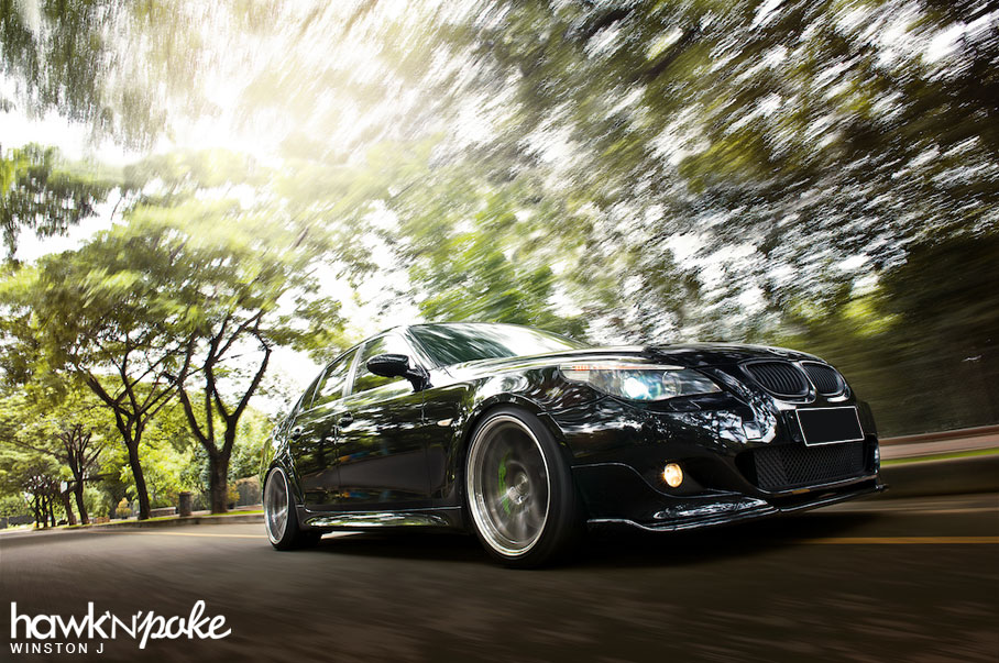 Malachite Bmw E60 5 Series On Bc Forged