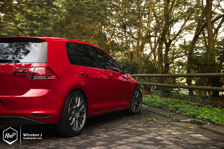 Daily Boost Ongky S Golf Mk7 On Rays Homura