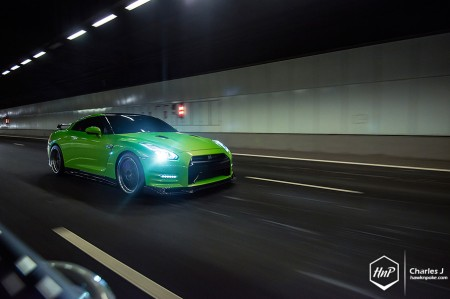 greengtr-03 (Invisible Spectrum // Nissan GT-R on BBS)
