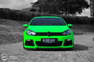 gtiairgreen-08 (Full Force // Benny's K04 & Aired Out GTI on Work Wheels)