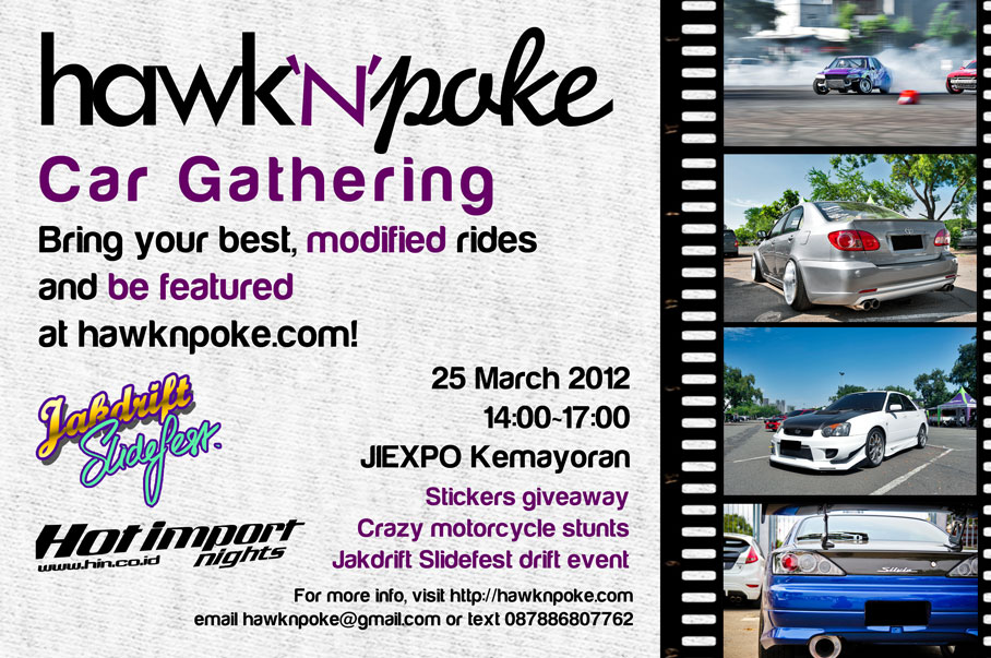 Hawknpoke Car Gath Flyer